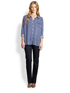 Splendid, Salon Z - Gingham Button-Down Shirt