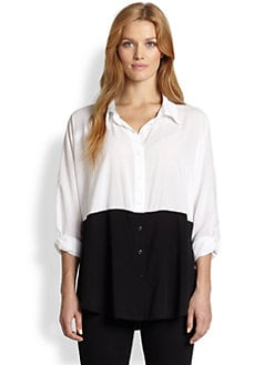 Splendid, Salon Z - Colorblock Button-Down Shirt