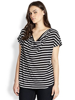 Splendid, Salon Z - Striped Baseball Tee