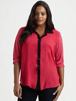 Splendid, Salon Z - Jersey Colorblock Blouse