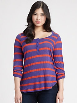 Splendid, Salon Z - Stripe Henley Top