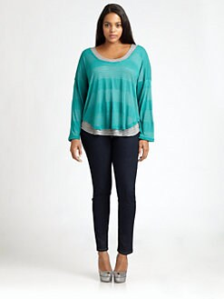 Splendid, Salon Z - Striped Scoopneck Top