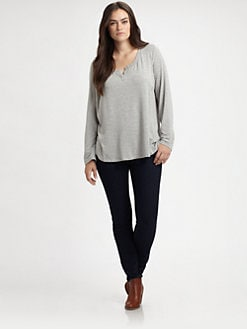 Splendid, Salon Z - Jersey Pullover Top