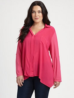 Splendid, Salon Z - Cotton/Modal Hi-Lo Blouse