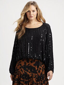 Tolani, Salon Z - Silk/Sequin Top