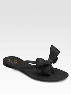 Valentino - Couture Bow Jelly Sandals