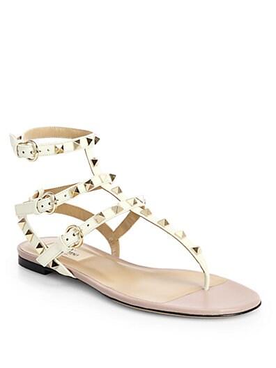 Rock Stud Gladiator Thong Sandals