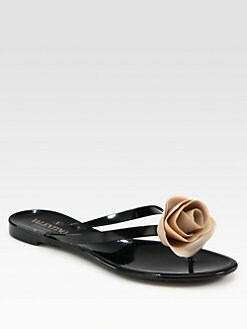 Valentino - Rose Jelly Thong Sandals