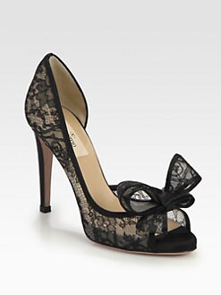 Valentino - Lace Couture Bow d'Orsay Pumps