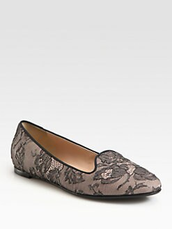Valentino - Lace Smoking Slippers