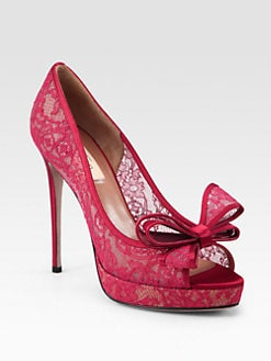 Valentino - Lace Couture Bow Pumps