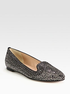 Valentino - Studded Suede Smoking Slippers