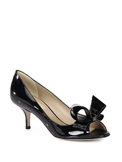 Valentino - Couture Patent Leather Bow Pumps