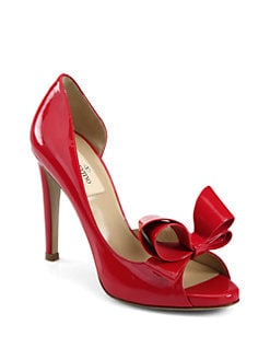 Valentino - Couture Patent Leather Bow d'Orsay Pumps
