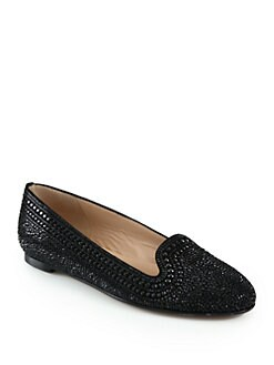 Valentino - Glam Microstud Smoking Slippers