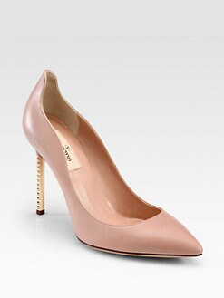 Valentino - Leather Studded Pumps