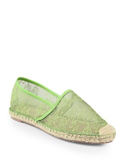 Valentino - Glamorous Lace & Leather Espadrilles