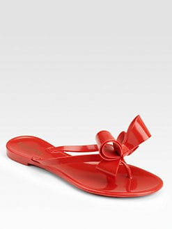 Valentino - Couture Bow Jelly Thong Sandals