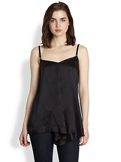 9|15 - Leather Strap-Silk Camisole