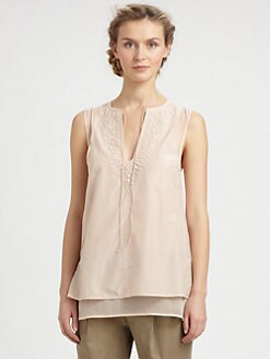 9|15 - Embellished Sleeveless Peasant Blouse