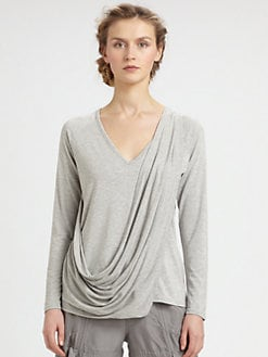 9|15 - Jersey Asymmetrical Wrap Top