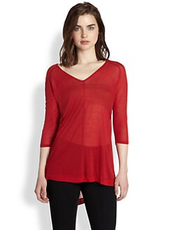 9|15 - Modal/Silk V-Neck Tunic