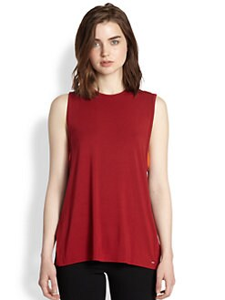 9|15 - Colorblock Silk/Jersey Tank Top