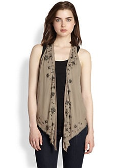 9|15 - Beaded Silk Vest