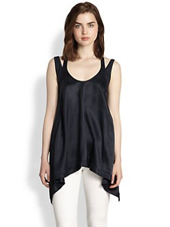 9|15 - Mixed-Media Silk Tank Top
