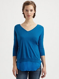 9|15 - Silk-Blend V-Neck Sweater