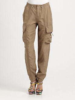 9|15 - Enzyme-Washed Silk Habotai Cargo Pants