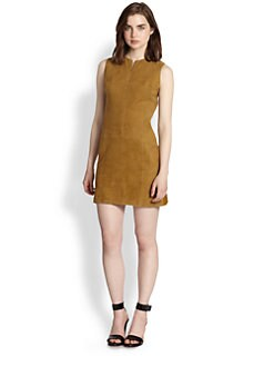 9|15 - Suede-Front Cotton/Wool Shift Dress