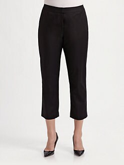 Lafayette 148 New York, Salon Z - Cropped Stretch Cotton Pants