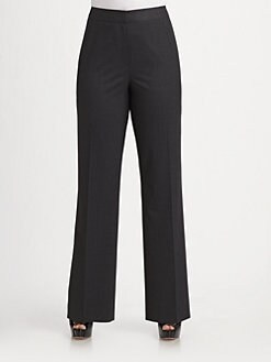 Lafayette 148 New York, Salon Z - Stretch Wool Menswear Pants