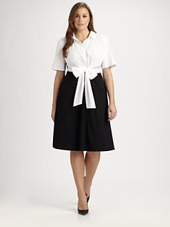 Lafayette 148 New York, Salon Z - Tie-Front Dress