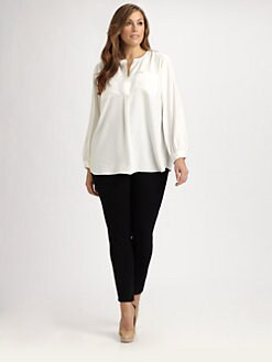 Lafayette 148 New York, Salon Z - Silk Samantha Blouse