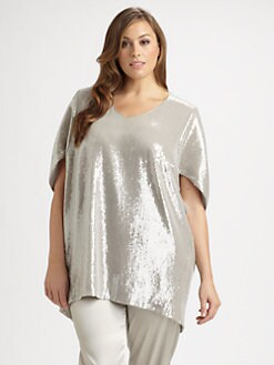 Lafayette 148 New York, Salon Z - Sequin Shanaya Top