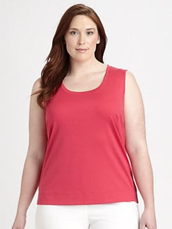 Lafayette 148 New York, Salon Z - Stretch-Cotton Tank Top