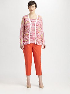 Lafayette 148 New York, Salon Z - Printed Ruched Cardigan