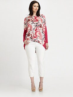 Lafayette 148 New York, Salon Z - Printed/Matte Dolman Top