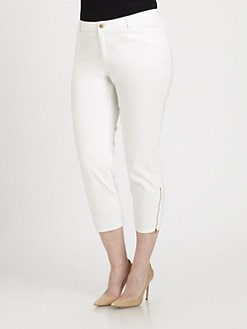 Lafayette 148 New York, Salon Z - Zipper-Hem Ankle Pants