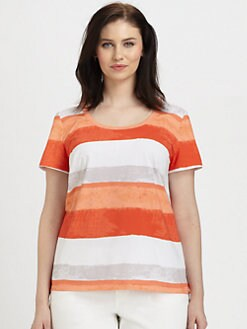 Lafayette 148 New York, Salon Z - Jersey Coastal-Stripe Tee