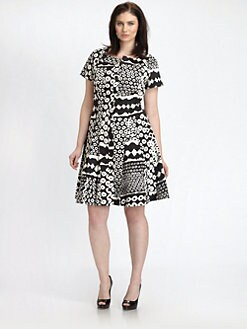Lafayette 148 New York, Salon Z - Stargazer-Print Carla Dress