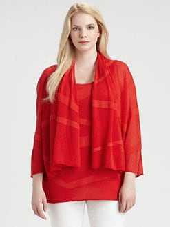 Lafayette 148 New York, Salon Z - Draped Zigzag Cardigan