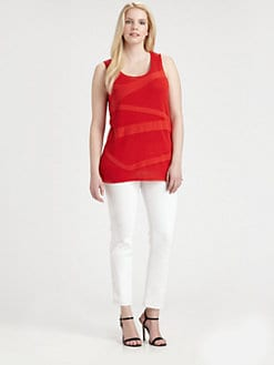 Lafayette 148 New York, Salon Z - Zigzag Tank Sweater