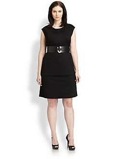 Lafayette 148 New York, Salon Z - Layered-Hem Sheath Dress