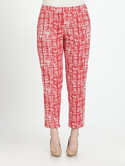Lafayette 148 New York, Salon Z - Printed Cropped Bleeker Pants