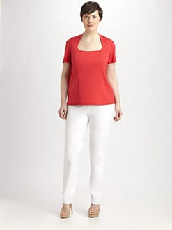 Lafayette 148 New York, Salon Z - Princess-Seam Tee