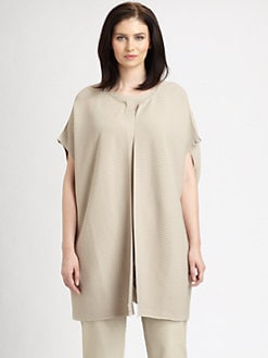 Lafayette 148 New York, Salon Z - Oversized Ribbed Vest