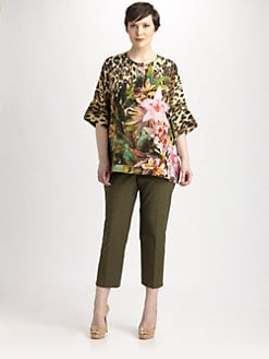 Lafayette 148 New York, Salon Z - Silk Selene Rainforest Top